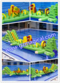 inflatable water floating bounce slide water game equipment inflatable water slide bounce