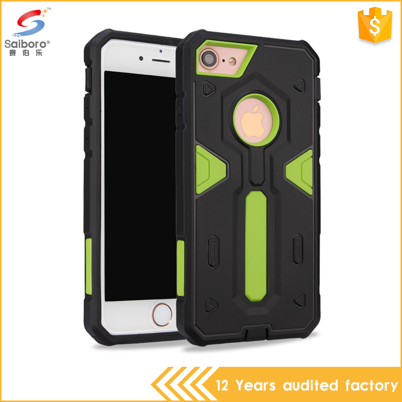 Soft tpu outside and hard pc inside combo cell case for iphone 7 wonderful design phone cases