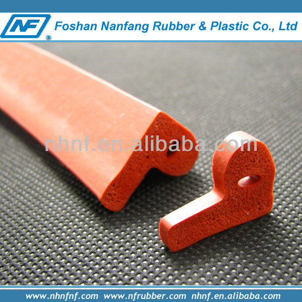 P or E or D shapes silicone foam seal strip