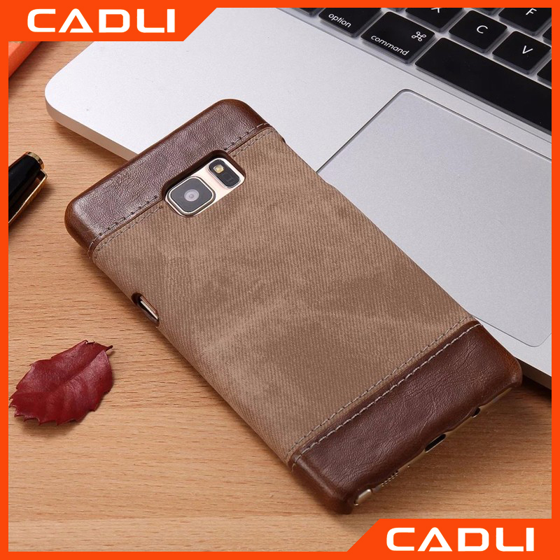 Fashion Jean Style leather Case for Samsung Galaxy Note 7 Vintage Hard Phone Cover Shell