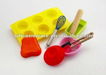 mini silicone cake baking mould set kids silicone baking mould set