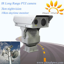 10km long range ptz zoom nightvision surveillance ir laser infrared camera