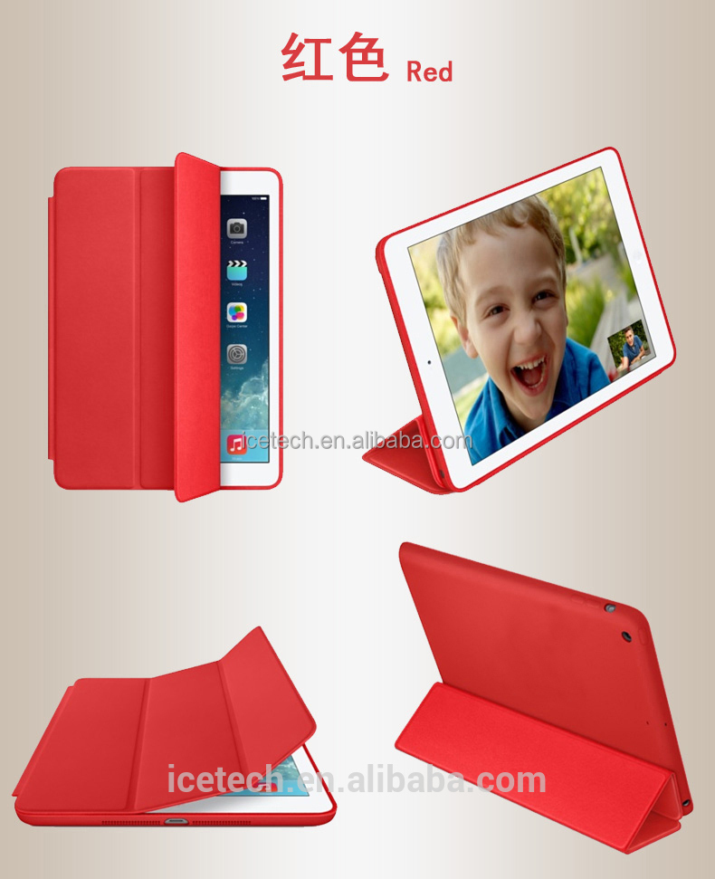 Smart PU leather case for iPad air 2,for iPad air 2 case