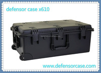 x610-High quality hard plastic long gun case with wheels