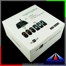 Dream color rgb led controller wifi,IOS/Android rf led dimmer cc dmx RGBW LED RF & wifi LED touch controller