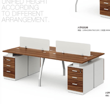 Hot sale modern cheap computer desk double workstation desk wooden office computer desk