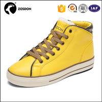 China Pppular 2016 Yellow Canvas Shoes Breathable Casual Shoes for Female