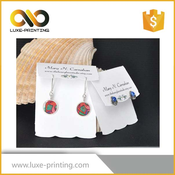 Best Selling Custom Printed Necklace Earring Cards/Jewellery Display Card
