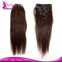 Fashion source excellent quality 30 inch clip in human hair extensions for black people