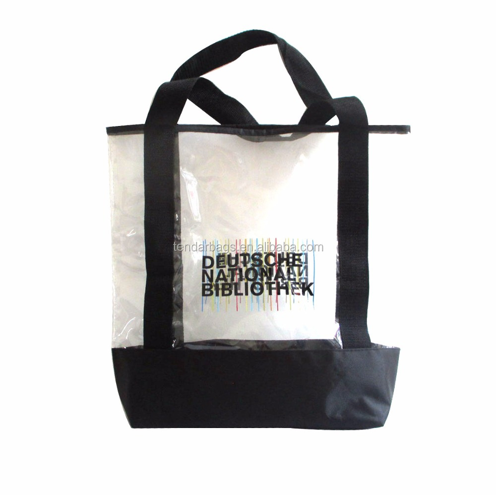 Hot Sale Promotional Plastic Transparent PVC Tote Clear Beach <strong>Bag</strong>