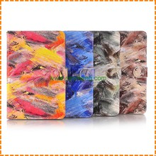 New arrival Painted Graffiti Pattern Flip Pu Leather Stand Card slot Case For Ipad mini 4
