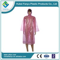 Hot selling disposable folding emergency raincoat
