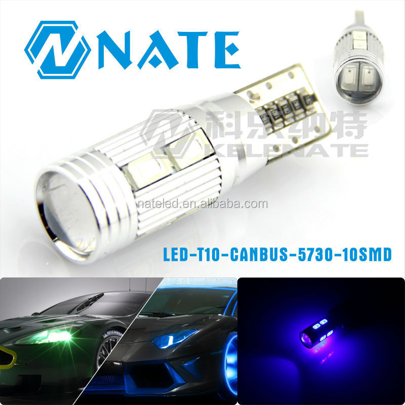 2016 newest T10 canbus 5730 10smd color changing led interior car light