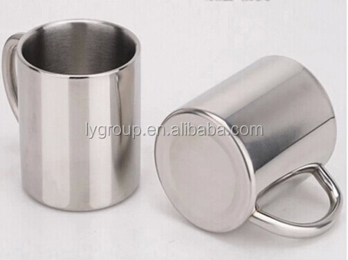Wholesales stainless steel coffee soup mug/stainless steel double wall insulated coffee mug with handle/tea mug