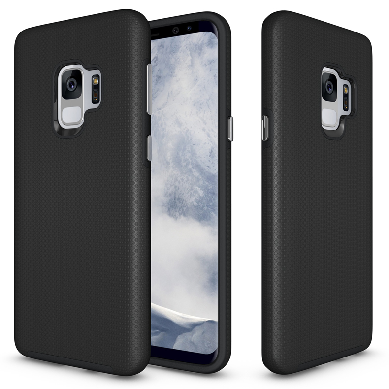 Factory OEM ODM Free Sample TPU PC Combo Shockproof Protective Smart Phone Armor Case Cover For Samsung Galaxy S9