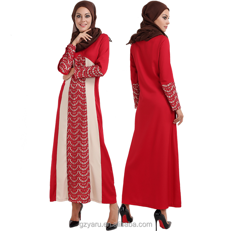 On sale 2017 New Fashion Arabic Long Sleeve Maxi Women Dress