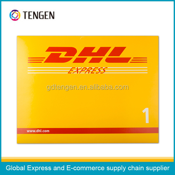 DHL self-adhesive tape cardboard envelope with attached bag