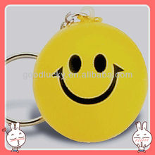 Happy face ball PU key ring /PU basketball for promotion