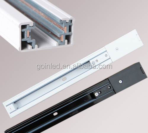 luminaire aluminum guide rails 3 lines led track rail. Black Bedroom Furniture Sets. Home Design Ideas