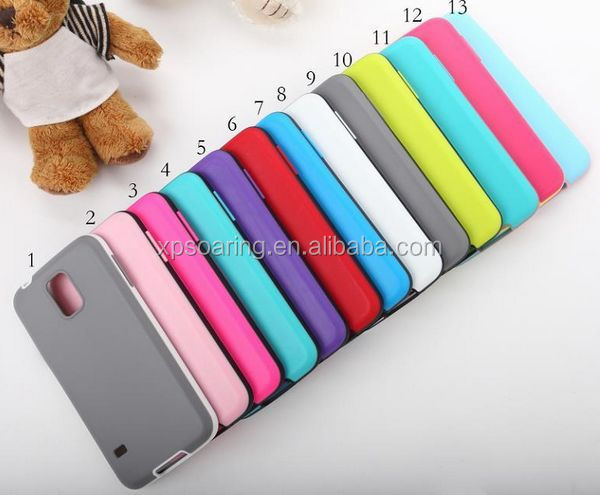 Dual color TPU rubber case skin cover for Samsung Galaxy S5