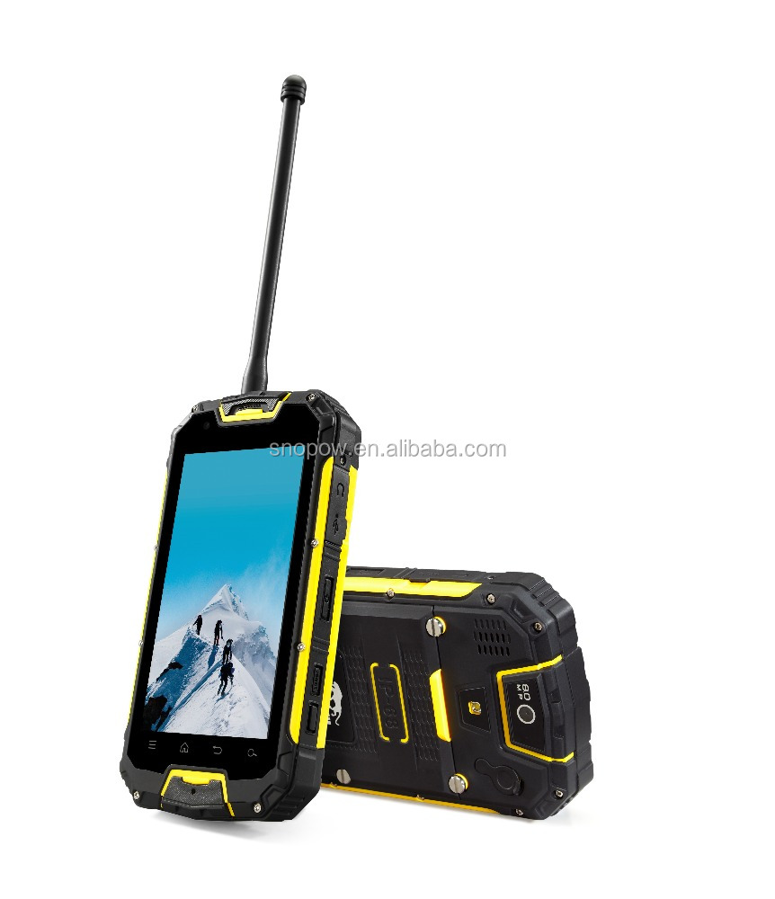 Snopow M9 IP68 waterproof 4.5 inches quad core with NFC walkie talkie 4700mah battery free sample mobile phone
