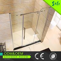 Portable frameless shower screens with hinges