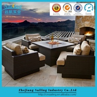 5 Pcs California Dining Set lassic Dining Table Set Concrete Top Small Dining Set