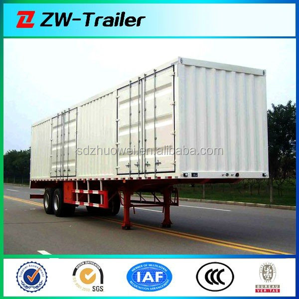 Van Type Station Transport Wagon Box Truck Cargo Semi Trailer(Customized Available)