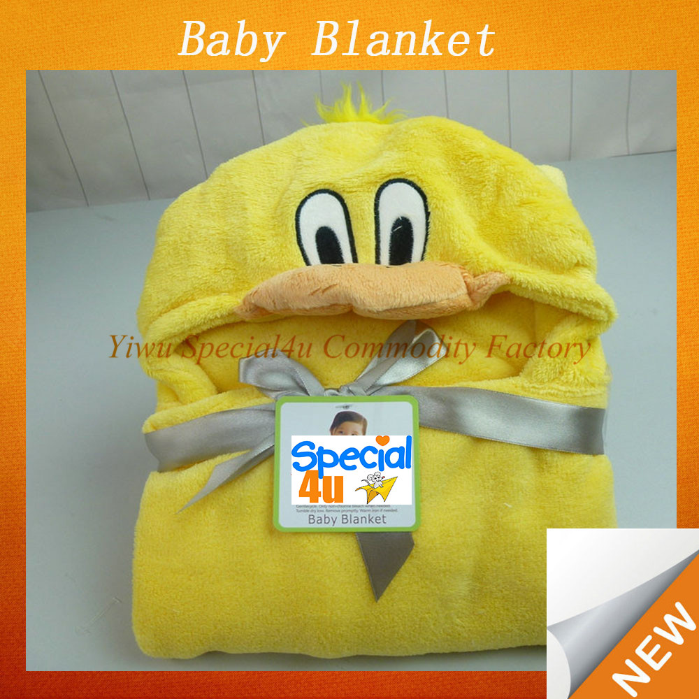 Duck head design infant blanket animal shaped baby plush blanket soft touch quality baby blanket SYBB-057