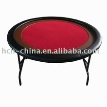 52 inch Round Poker Table, With Wooden Racetrack
