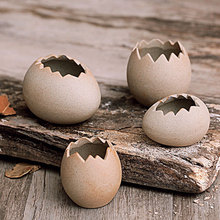 Egg shell shape ceramic plant flower pots for sale