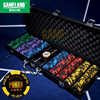 500pc 14g Two Tone Leaf Clay Composite Casino Poker Chip Set