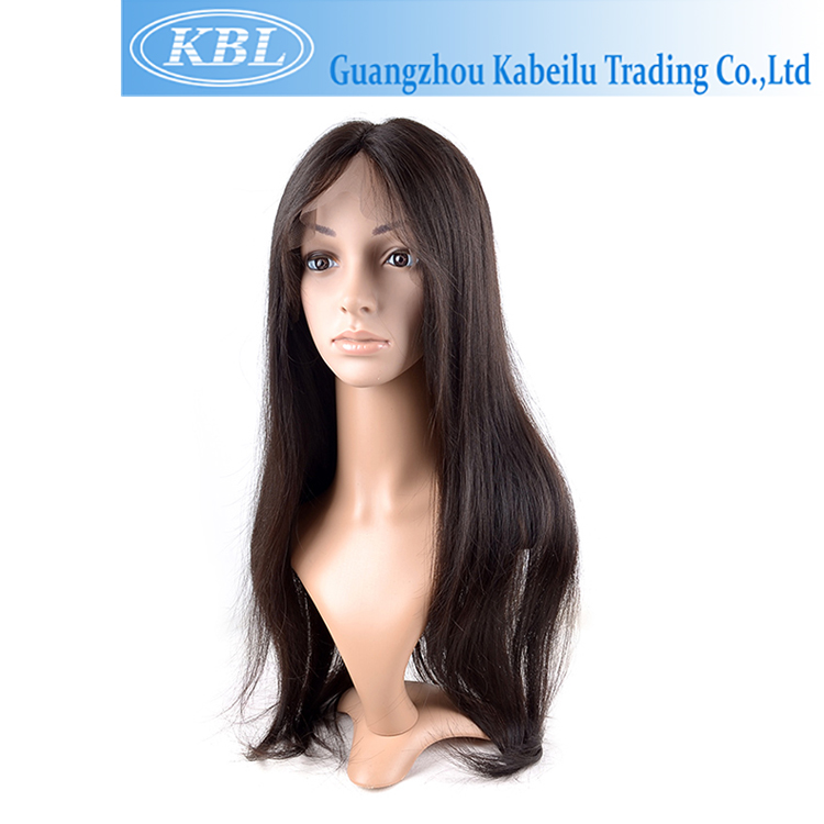 KBL heat resistant wig long wavy black wig cosplay,raw human hair wig vs wig,180 density virgin remy human hair lace front wig