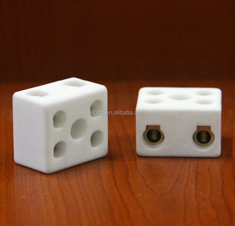 1 pole 2 pole 3 pole Ceramic terminal blocks /porcelain wire connector