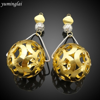 High quality drop earrings face earring gold plated drop earrings