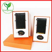Personalized genuine leather card holder/ID card holder/business card holder set