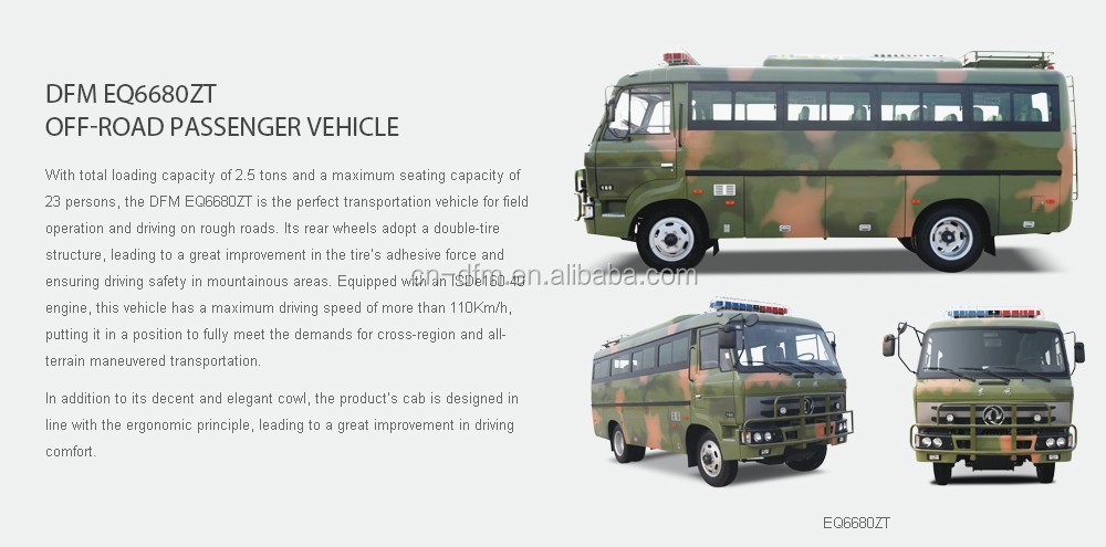 dongfeng off-road bus, oil filed bus
