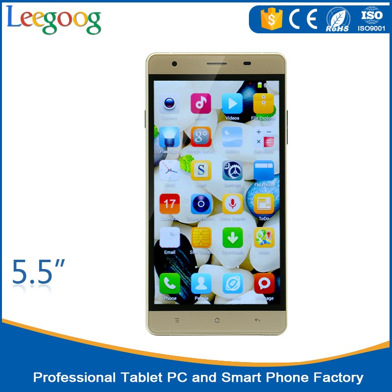 5.5 inch quad core cheap android mobile OEM 4G smart phones