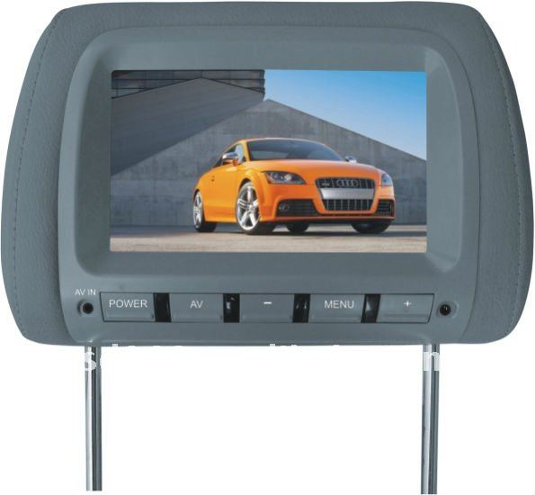 "7"" TFT LCD color car auto headrest monitor optional TV,IR function"