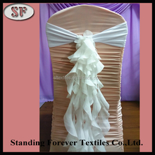 Wholesale modern design fashionable lilac frilly chiavari cheap chair covers chair sashes