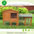TUV EN71 eco-friendly brown outdoor wooden rabbit hutch