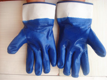 Brand MHR white cotton grip gloves