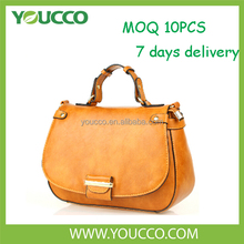 Women genuine yiwu ladies handbags manufacturers fancy brand handbag