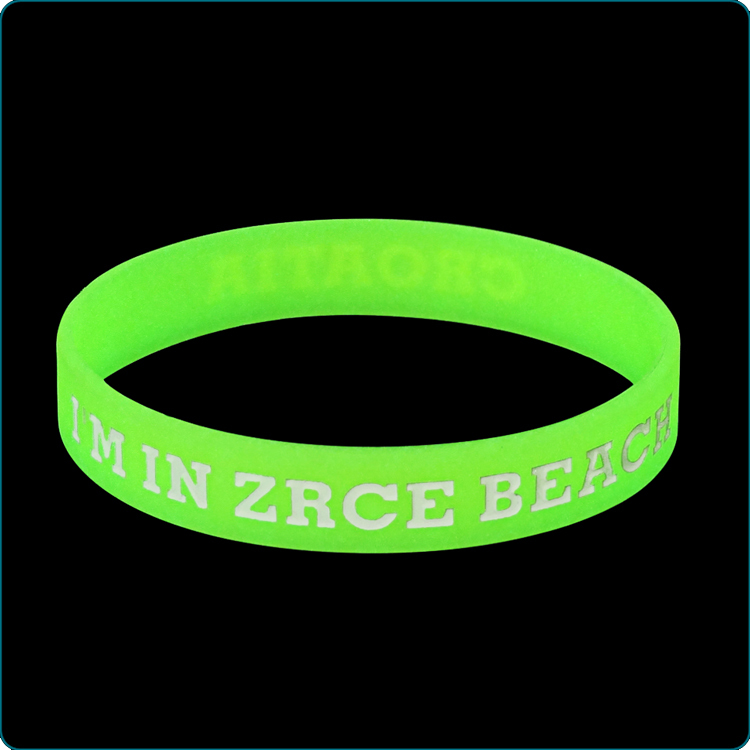 Glow in dark silicone bracelets promotion gifts silicone wristbands
