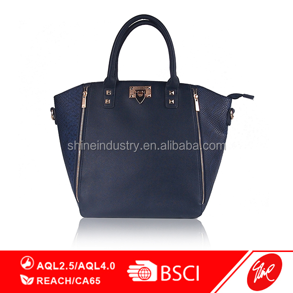 Exotic Scale PU Ladies Shopper Hand Bag