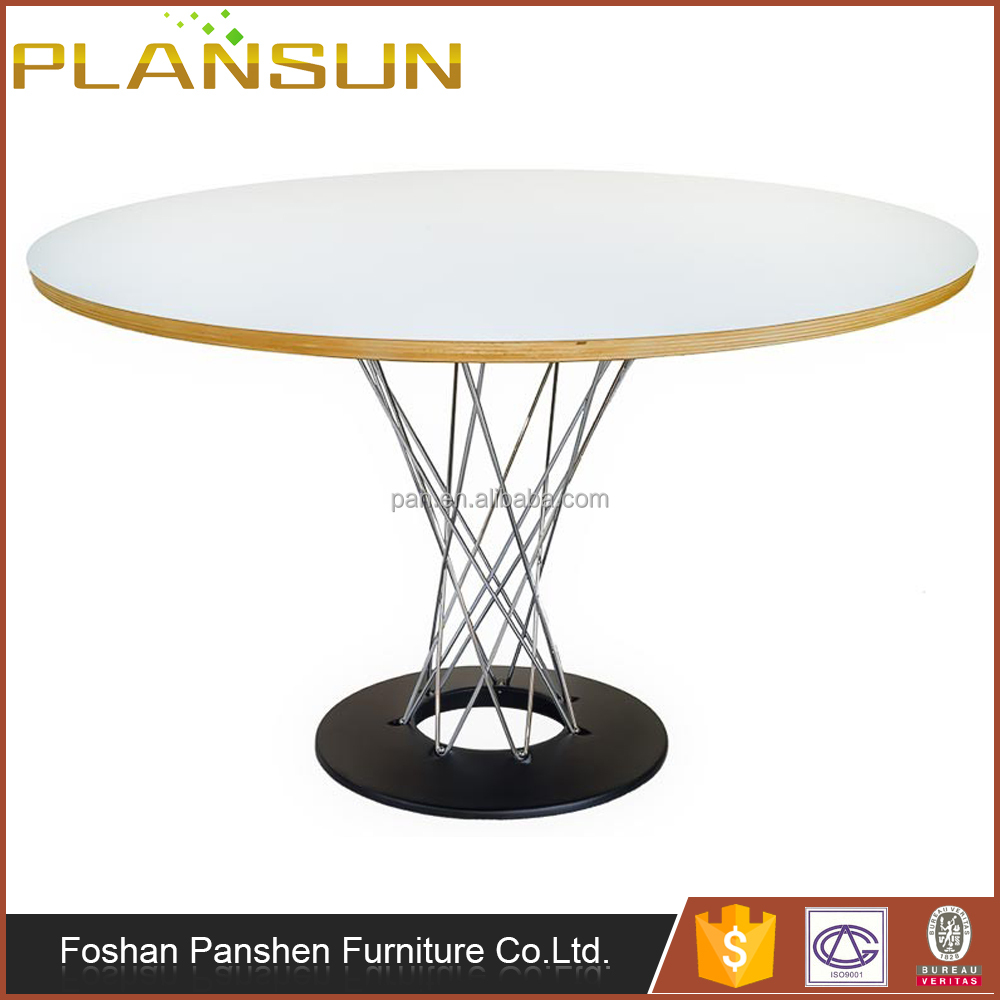 Contemporary Dining room table chrome plated steel wire Cyclone Stainless Steel Dining Table