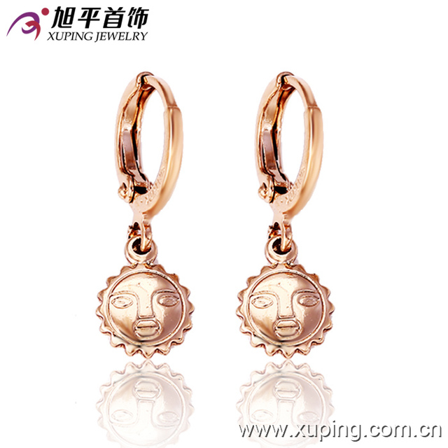 26757 Hot sale unique jewelry special style gold plated face paint drop earrings for ladies
