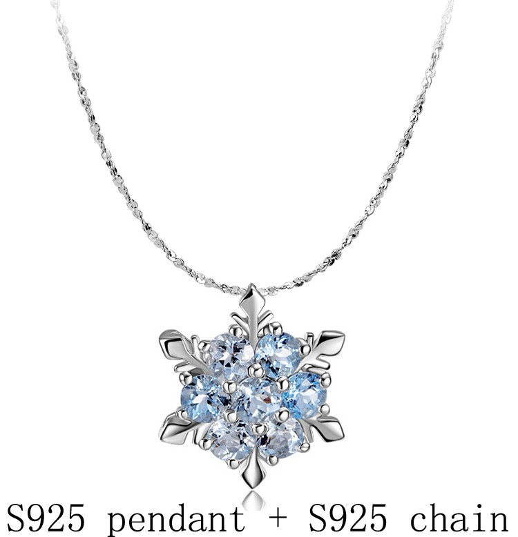 Top selling high quality best Valentine gift 925 sterling silver snowflake necklace