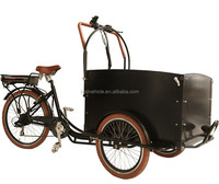 Tricycle electrische bakfiets three wheel 2 front wheel tricycle