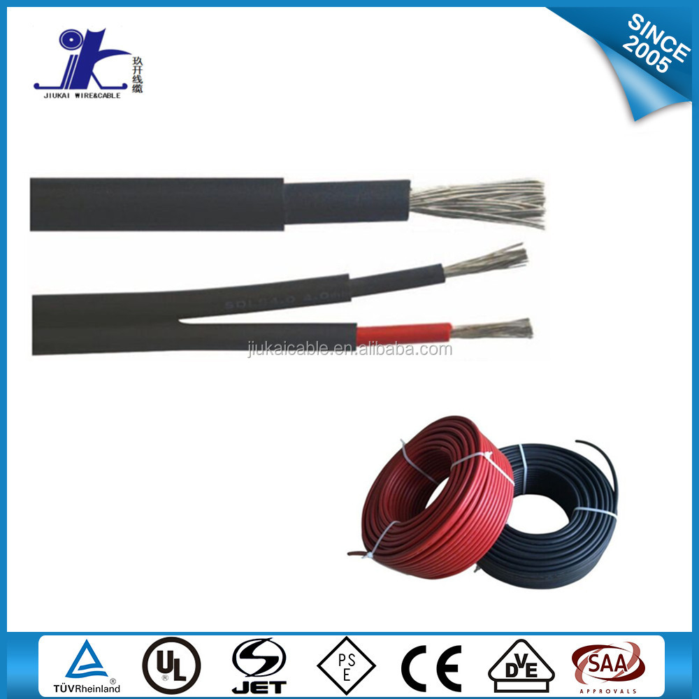 TUV pv plant system 6mm dc solar cable